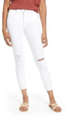 Madewell 9-Inch Ripped High Waist Crop Skinny Jeans