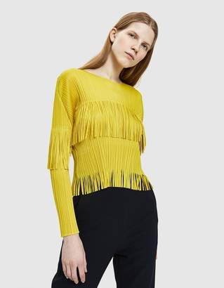 Pleats Please Issey Miyake Earthen Fringe Blouse