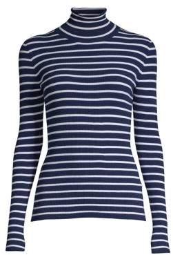 Michael Kors Striped Turtleneck Sweater