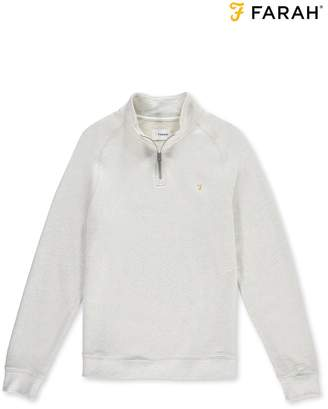 Next Mens Farah Natural Zip Top