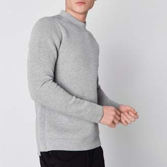 River Island Jack and Jones Premium grey marl sweatshirt