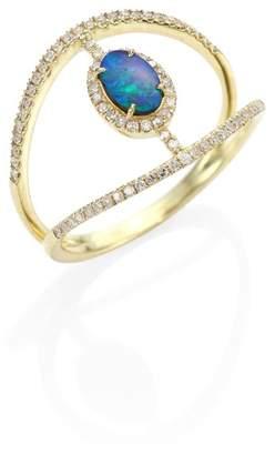 Meira T Diamond, Opal & 14K Yellow Gold Ring