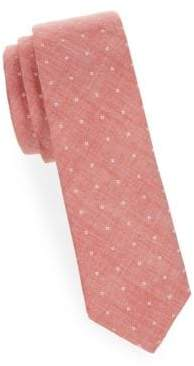 Printed Slim Cotton Tie