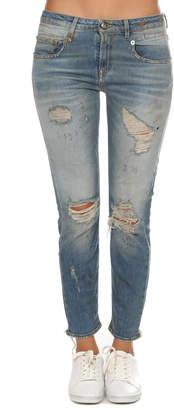 R 13 Boy Skinny Shredded Jean
