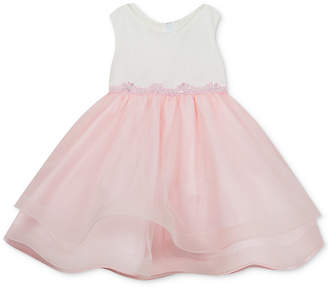 Rare Editions Baby Girls Tulle-Skirt Dress