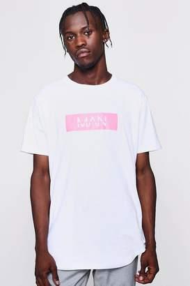 boohoo Pink MAN Box T-Shirt