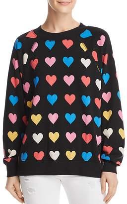 Wildfox Couture Heart Print Sweatshirt