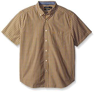Nautica Men's Standard Short Sleeve Plaid Button Down Shirt