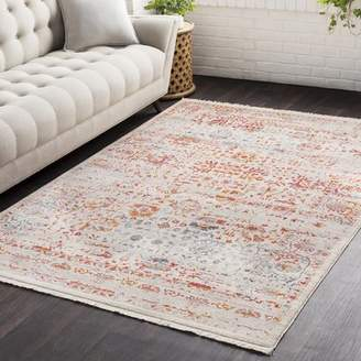 Three Posts Mendelsohn Vintage Persian Traditional Red/Cream Area Rug