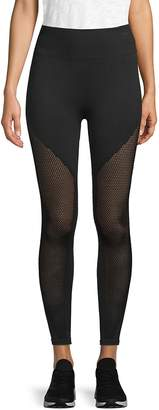 Betsey Johnson Performance Women's Mesh-Accented Active Leggings