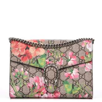 aa5d4189 Gucci Dionysus Chain Wallet GG Supreme Blooms Mini Antique Rose