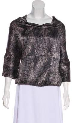 Tucker Abstract Silk Top