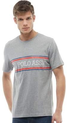 U.S. Polo Assn. Mens Chester T-Shirt Grey Marl