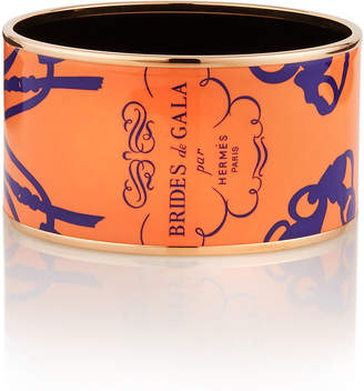 Hermes Estate Brides de Gala Bangle, Orange/Gold
