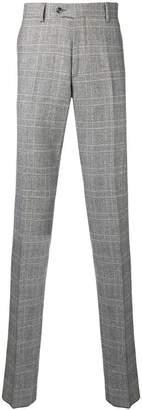 Paura check print trousers