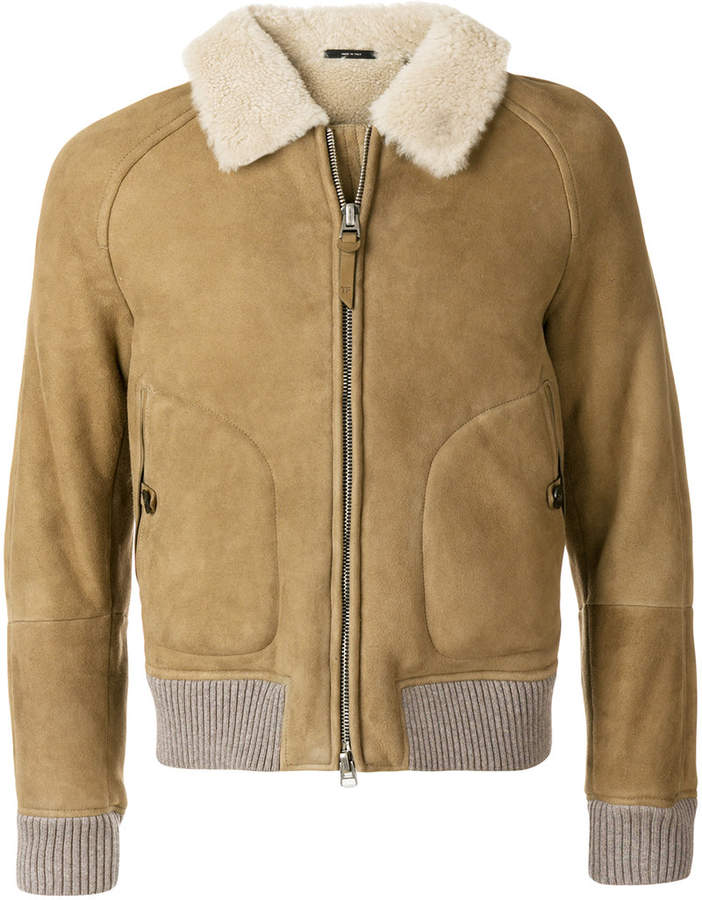 Tom Ford shearling bomber jacket
