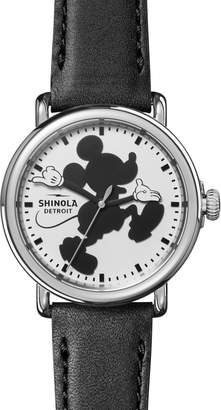 Shinola x Disney Runwell Mickey Classic Leather Strap Watch, 41mm