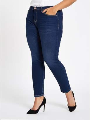 River Island RI Plus Alannah Skinny Jeans - Dark Blue