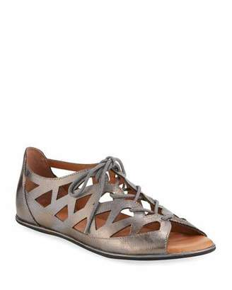 Gentle Souls Betsi Cutout Leather Walking Sandal