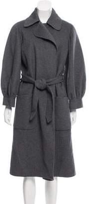 Oscar de la Renta Wool And Angora-Blend Coat