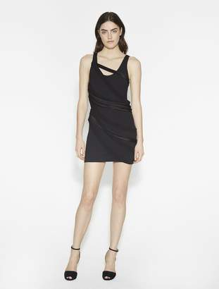 Halston Fitted Ponte Dress With Multi Strips