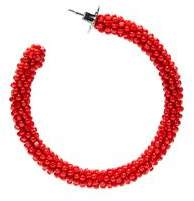 Sachin + Babi Glass Beaded Hoop- Gojiberry