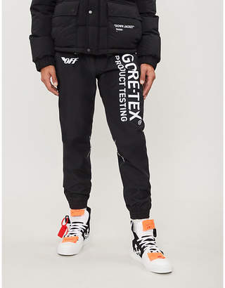 Off-White Gore-Tex printed relaxed-fit shell jogging bottoms