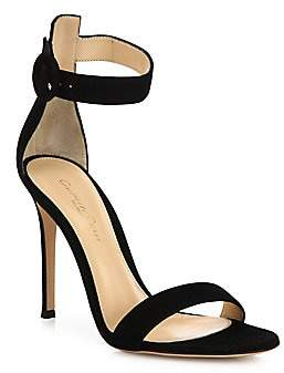 cfd23256963 Gianvito Rossi Women s Portofino Suede Ankle-Strap Sandals