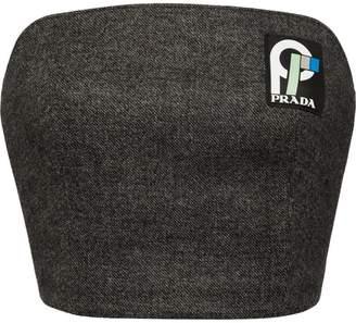 Prada Double cloth bustier top