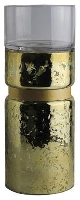 A&B Home Clear & Mercury Candle Holder - Gold