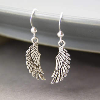 7e3feb0c7 Gaamaa Sterling Silver Angel Wing Drop Earrings