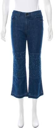 Alyssa Less Cropped Mid-Rise Jeans w/ Tags
