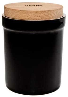 Denby Stoneware Black Jet Storage Jar