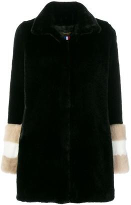 La Seine & Moi Carene fur-sleeved coat