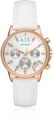 Armani Exchange Lady Banks Rose w/White Chronograph Women's Watch