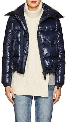 Sacai Women's Asymmetric-Zip Down Tech-Puffer Coat - Navy