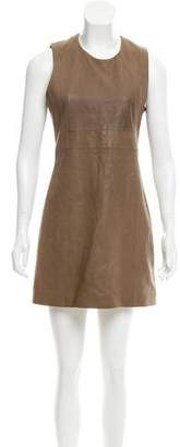 Veronica Beard Leather Mini Dress