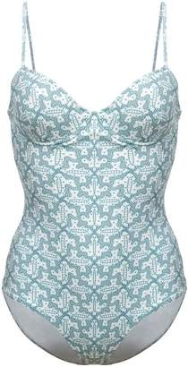 Le Sirenuse geometric pattern swimsuit