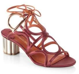 Salvatore Ferragamo Detailed Gancio Flower Heel Vinci Sandals