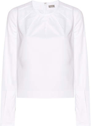 Alexis Mabille Stitch Pleat Blouse