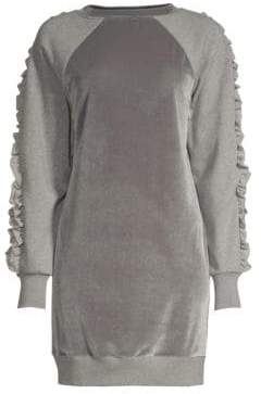 Elie Tahari Destine Velvet Knit Casual Dress