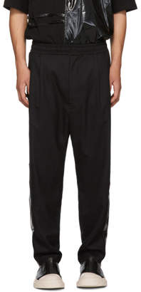 D by D Black Glossy Stripe Trousers