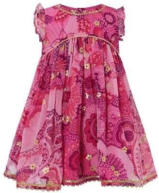 Monsoon Pink Baby 'Tyla' Dress