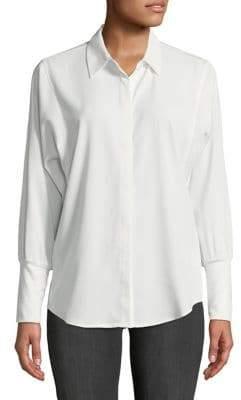 Jones New York Dropped-Shoulder Button-Down Shirt