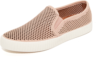 Frye Camille Perforated Slip Ons $178 thestylecure.com