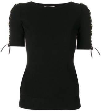 MICHAEL Michael Kors lace up-detailed knitted top