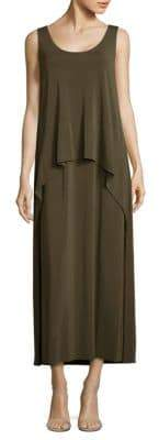 Lafayette 148 New York Layered Crepe Jersey Maxi Dress