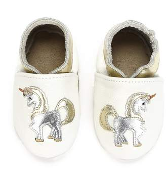 KOSHINE Baby Moccasins Girls Unicorn Horse Soft Sole Leather Crib Infant Toddler First Walker Shoes 0-6 6-12 12-18 18-24 Months