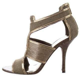Tory Burch Embossed Cutout Sandals