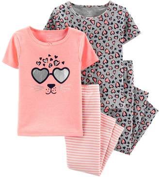 Carter's Baby Girl Leopard Print Tops & Bottoms Pajama Set